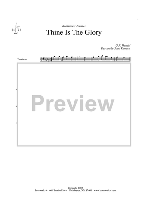 Thine is The Glory - Trombone