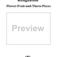 Flower-Fruit-and-Thorn-Pieces (Blumen-Frucht-und-Dornstücke), op. 82 - No. 11. Résignation