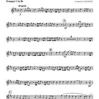 "Hallelujah Chorus - From ""The Messiah"" - Trumpet 1 in Bb"