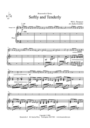 Softly and Tenderly - Piano Score