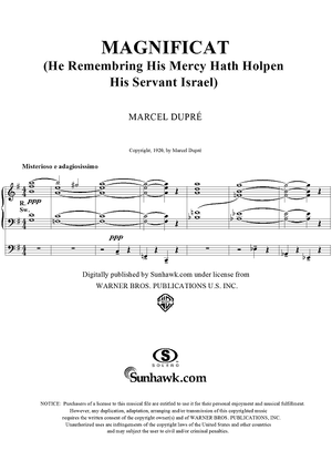 Magnificat: He Rememb'ring His Mercy Hath Holpen His Servant Israel, Op. 18, No. 14