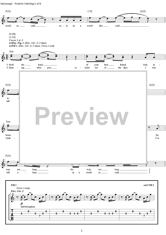 Buy World So Cold Sheet Music By Mudvayne For Guitar Tab Vocal