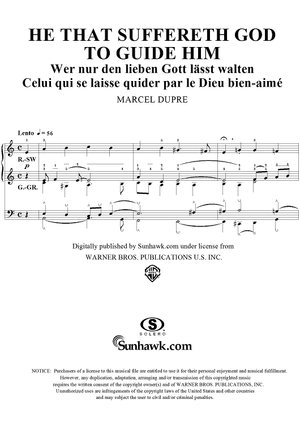 "He That Suffereth God to Guide Him, from ""Seventy-Nine Chorales"", Op. 28, No. 73"
