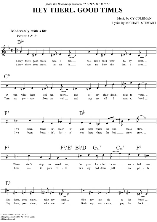 By Michael Stewart, Cy Coleman - digital sheet music to download