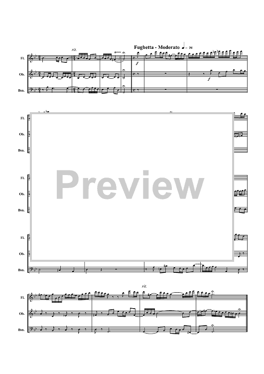 Homage to Bach - Score