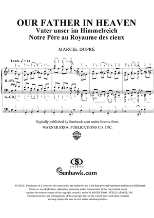 "Our Father in Heaven, from ""Seventy-Nine Chorales"", Op. 28, No. 67"