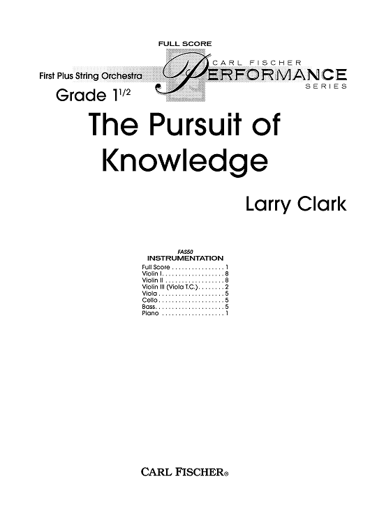 The Pursuit of Knowledge - Score