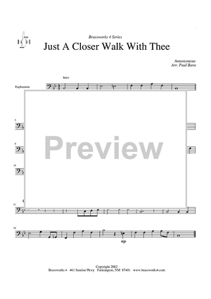 Just a Closer Walk with Thee - Euphonium - Euphonium