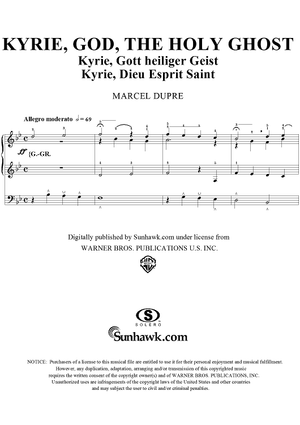 "Kyrie, God, the Holy Ghost, from ""Seventy-Nine Chorales"", Op. 28, No. 51"