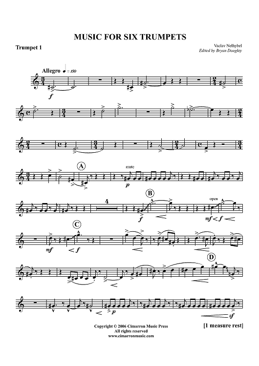 Music for Six Trumpets - Trumpet 1