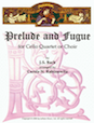 Prelude and Fugue for Cello Quartet or Choir - Cello 4