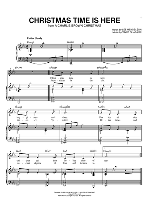 Christmas Time Is Here Sheet Music.Christmas Time Is Here