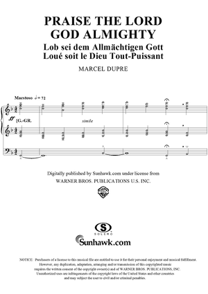 "Praise the Lord God Almighty, from ""Seventy-Nine Chorales"", Op. 28, No. 53"