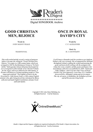 Good Christian Men, Rejoice / Once In Royal David's City