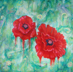 poppies painting,