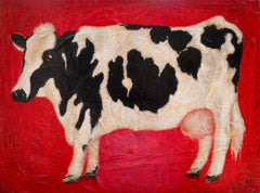 americana painting, cow painting,