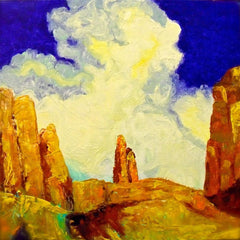 desert painting, canyon painting, new mexico artwork, new mexico painting, redrock painting, red rock artwork,