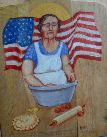american flag painting,