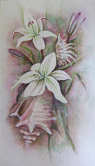 lily painting,