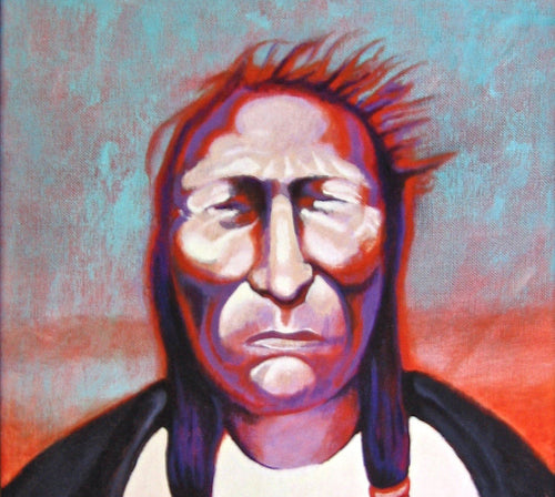 Indian Chief Portrait Oil Painting