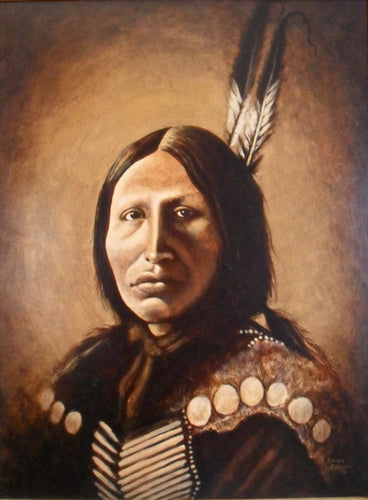 Indian Chief Portrait Painting
