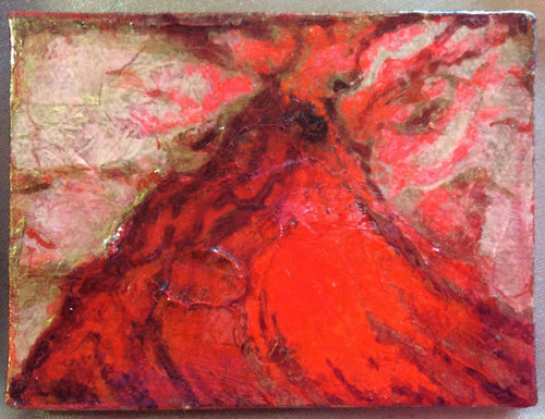 Abstract  Volcano Landscape Painting