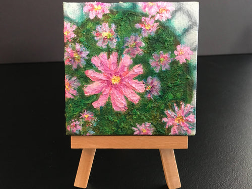 Miniature Painting Flower Garden