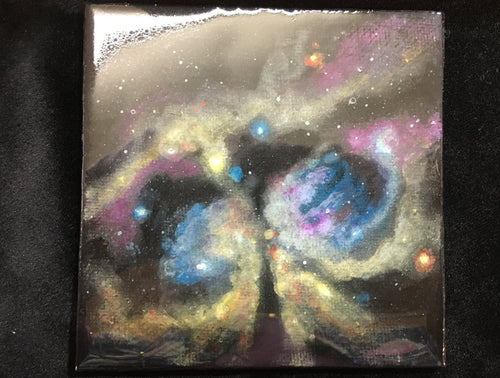 Outer Space Star Painting with easel