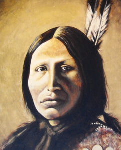 Indian Chief Art Print of original