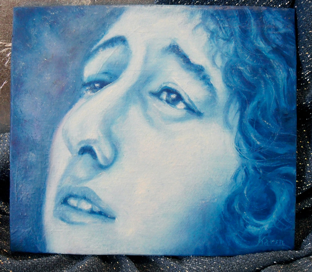 Bob Dylan Portrait  original oil painting on wood