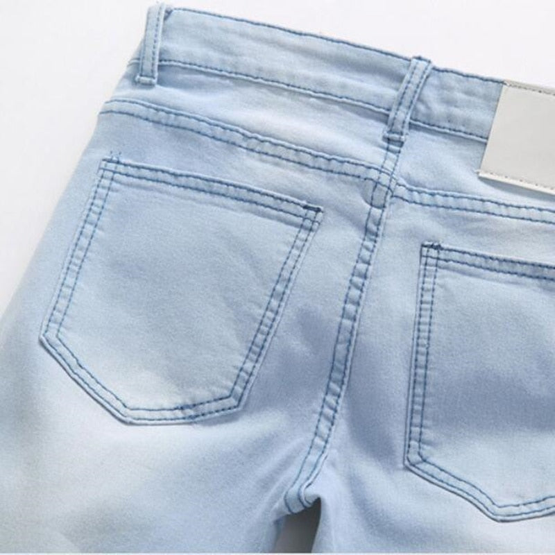 Straight Fit Light Blue Jeans