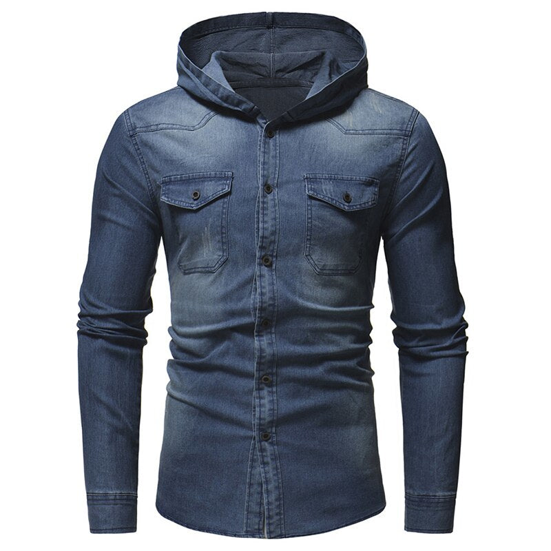 Hooded Denim Shirt
