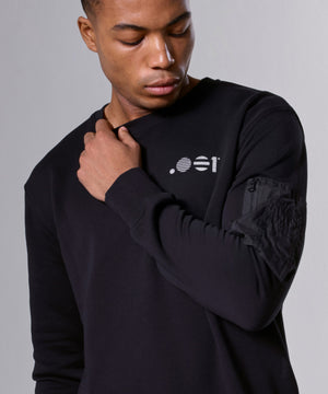MENS ZIP CREW SWEAT
