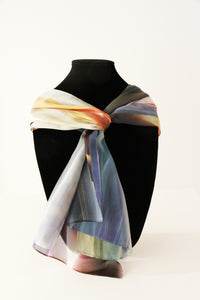 Grey Orange Mixed Traditional Scarf