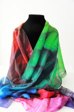 Block- Traditional Silk Scarf