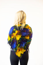 Floral- Large Silk Scarf