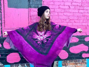 Purple Lotus- Poncho