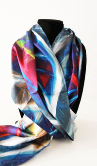 Blue Lightening Traditional Scarf