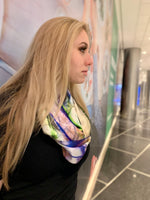 Lightening- Silk Infinity Scarf
