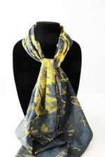 Golden- Traditional Silk Scarf