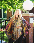 Autumn- Silk Poncho