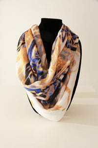 Italian Blue- Silk Mega Wrap