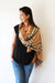 Tan Plaid- Cashmere Scarf