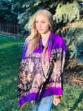 Purple Butterfly-Pashmina Scarf