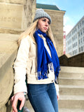 Royal Blue Paisley- Pashmina Scarf