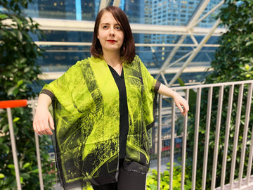 Abstract Lime Kimono- Medium
