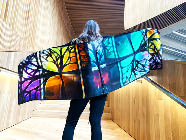 Tree- Traditional Silk Scarf