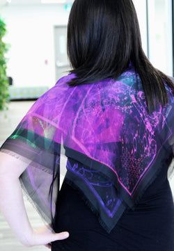 Abstract Purple Small Square Scarf