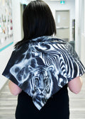 Black and White Zoo Small Square Scarf