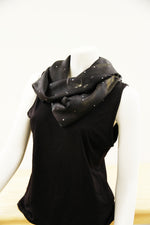 Charcoal Jockey- Traditional Silk Scarf